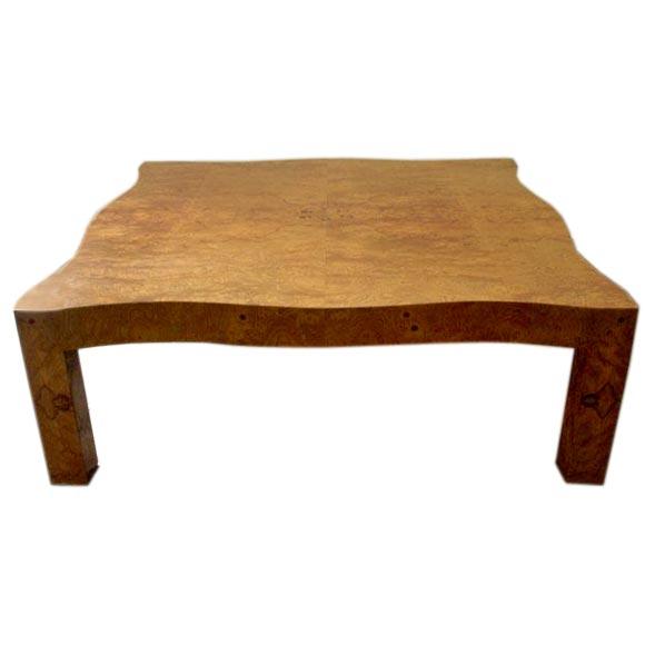 Large Burl Wood Coffee Table At 1stdibs