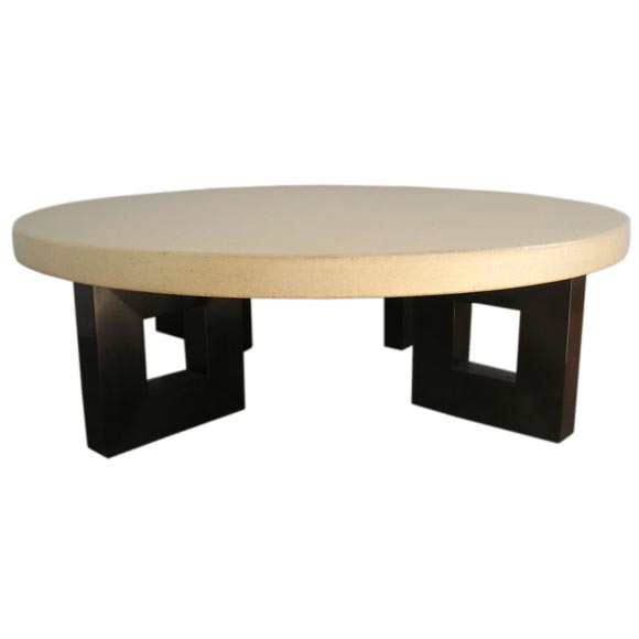 Cork And Mahogany Coffee Table Designed By Paul Frankl At 1stdibs