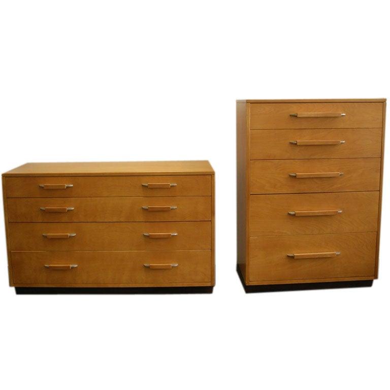 Two Dressers Designed By Eliel Saarinen For Johnson