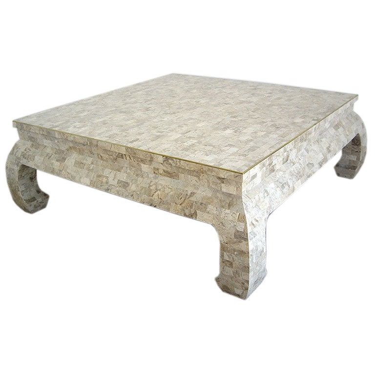 Large Stone Tile Coffee Table By Maitland Smith 1