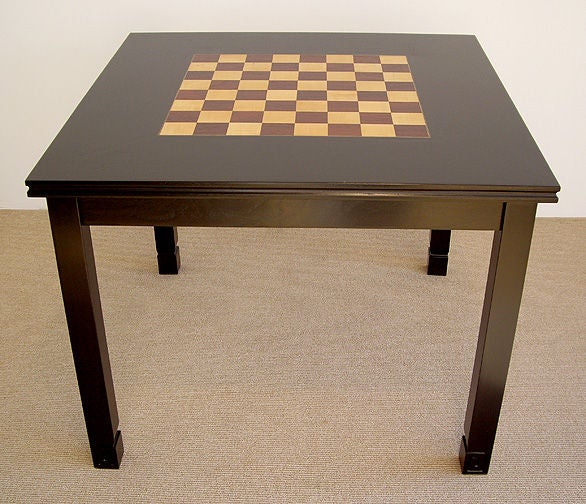 1960s game table with inlaid checker chess board at 1stdibs