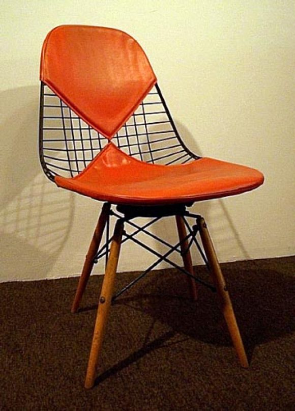 wood base swivel chair by ray and charles eames at 1stdibs
