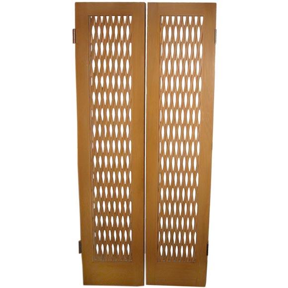 Spectacular 1940u0027s French Lattice Work Doors For Sale  sc 1 st  1stDibs & Spectacular 1940u0027s French Lattice Work Doors For Sale at 1stdibs