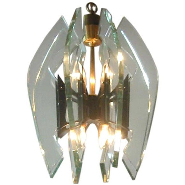 max ingrand for fontana arte blade chandelier at 1stdibs. Black Bedroom Furniture Sets. Home Design Ideas