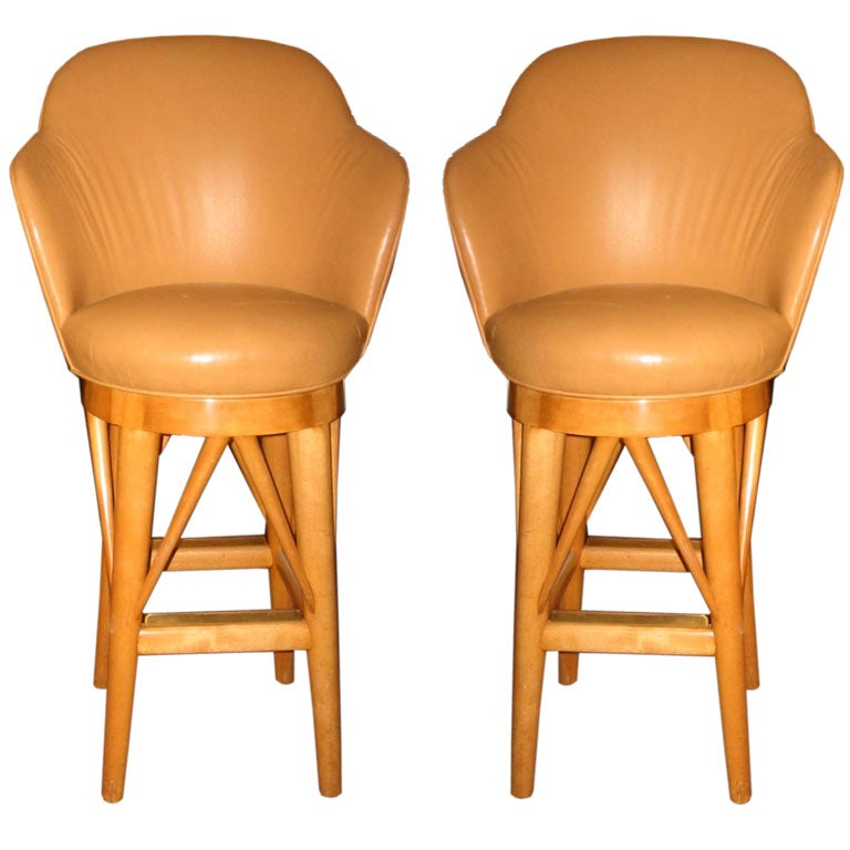 Custom Paul Laszlo Custom Bar Stools At 1stdibs