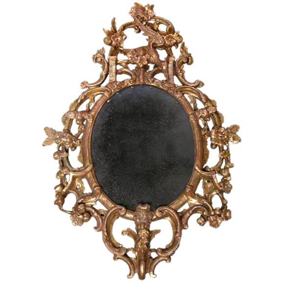 English George II Giltwood Mirror