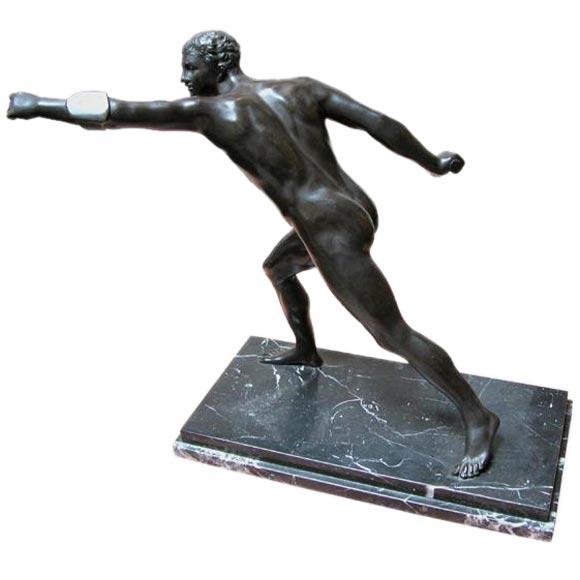 deco bronze figure at 1stdibs