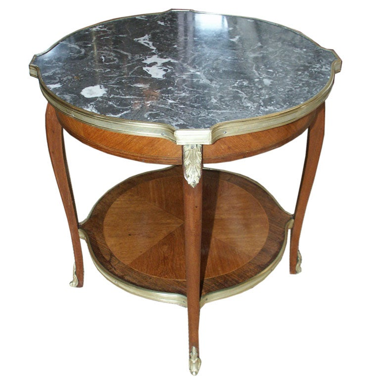 small french table with marble top at 1stdibs. Black Bedroom Furniture Sets. Home Design Ideas