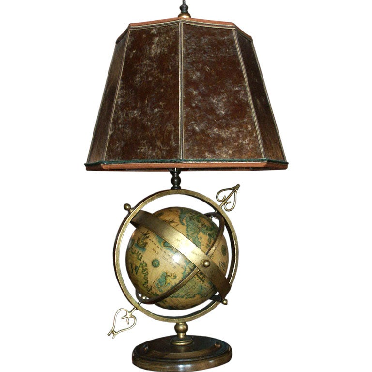 vintage italian globe lamp with mica shade at 1stdibs. Black Bedroom Furniture Sets. Home Design Ideas