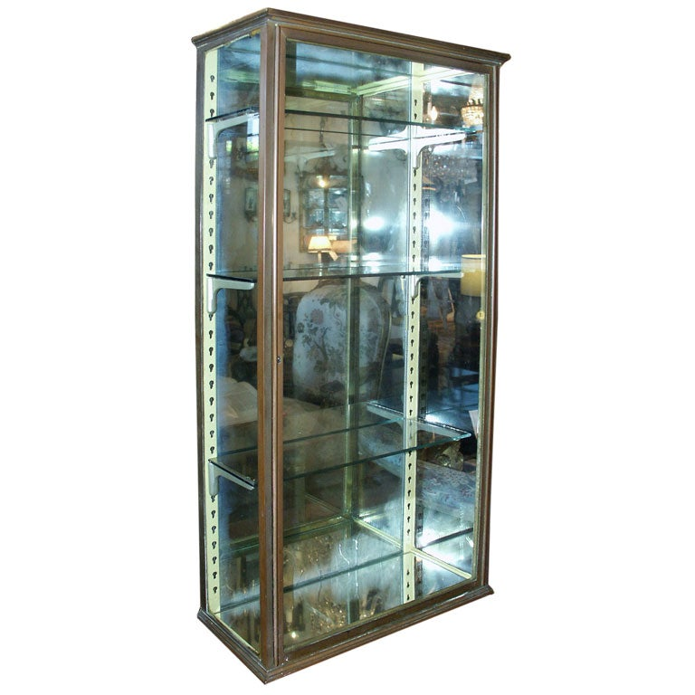 Small Wall Mount Bronze Display Case At 1stdibs