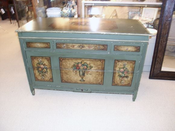 painted dresser with mirror by berkey and gay furniture co at 1stdibs