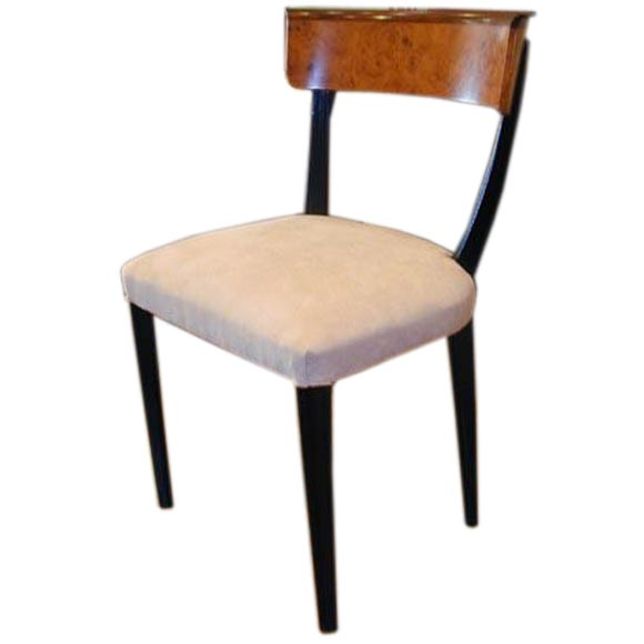 Set of 12 swedish art moderne klismos style dining chairs for Swedish style dining chairs