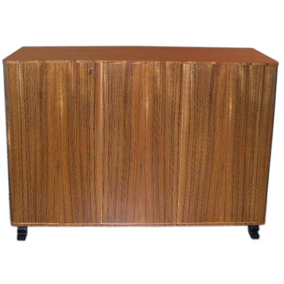 Swedish Art Moderne Storage Cabinet In Zebra Wood Ca 1940 At 1stdibs