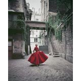 """Couture in Paris Courtyard #4"" Fashion Photo by Mark Shaw 1955"