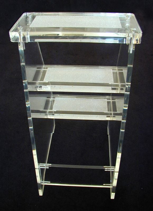 Quot Social Climber Quot Lucite Step Stool Dragonette Private