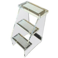 """Social Climber"" Lucite Step Stool, Dragonette Private Label"