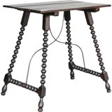 Castillian Side Table with Iron Supports