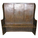 19th C English West Country Painted Settle