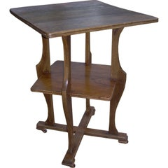 English Arts & Crafts End Table with Undershelf