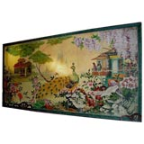 Three Highly Decorative 19th C Chinoisserie Wall Panels