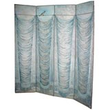 Four Panel Hand-Painted Screen