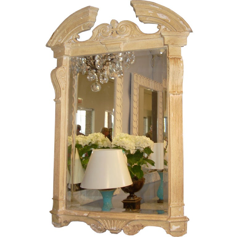architectural painted mirror in the georgian manner for sale at 1stdibs
