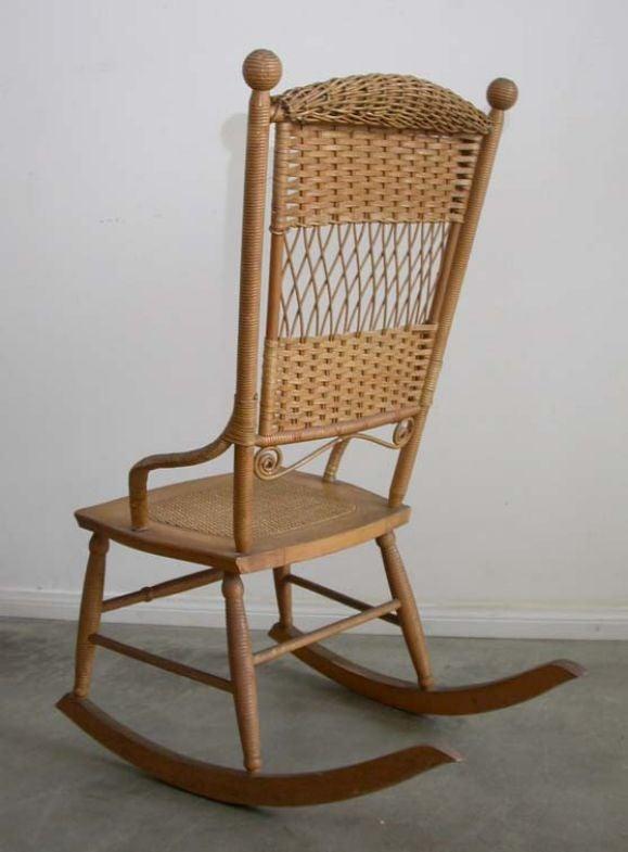 Strange Wicker Rocking Chair Machost Co Dining Chair Design Ideas Machostcouk