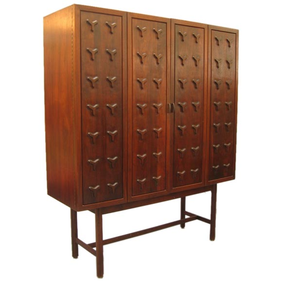 Gorgeous home dry bar cabinet at 1stdibs for Home dry bar furniture