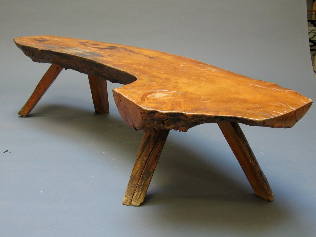 Rustic Log Bench At 1stdibs
