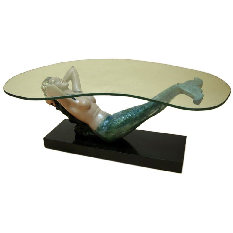 Mermaid cocktail table at 1stdibs Mermaid coffee table