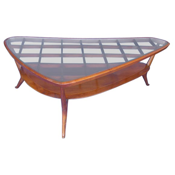 Italian coffee table in the style of gio ponti at 1stdibs Tuscan style coffee table