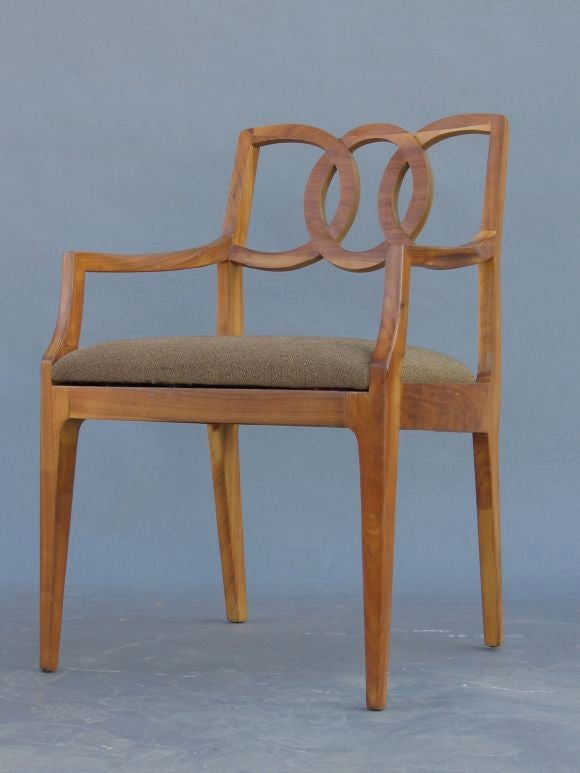 Exotic Wood Chairs ~ Set of six exotic tropical wood dining chairs at stdibs