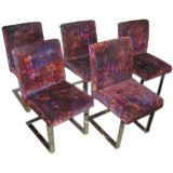 SIX Dining Chairs in Jack Larsen Fabric by Directional