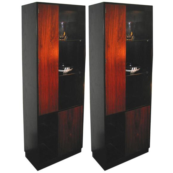 Pair of Harvey Probber Display Cases For Sale