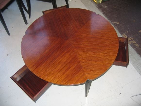 Mid-20th Century Osvaldo Borsani Coffee Table w/ 3 Drawers For Sale