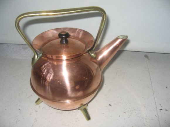 Christopher Dresser Teapot and Chafing Stand 3