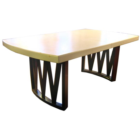 Paul Frankl Cork And Mahogany Dining Table At 1stdibs