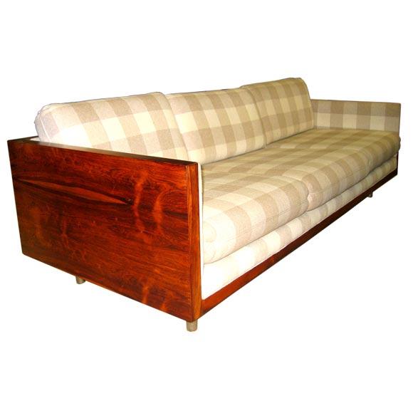 Milo Baughman Rosewood Coffin Sofa At 1stdibs