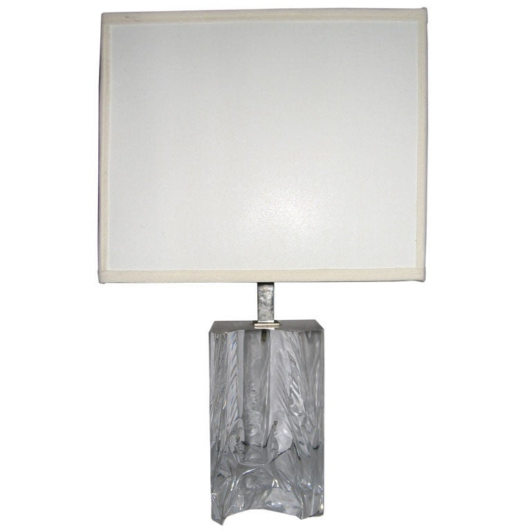Lucite Table Lamp For Sale