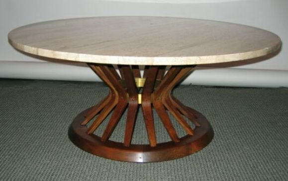 SOLD Sheaf of Wheat cocktail table at 1stdibs