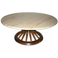 SOLD: Sheaf of Wheat cocktail table