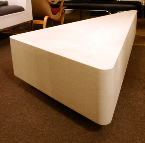 Wrapped Linen 39 Wedge 39 Coffee Table At 1stdibs