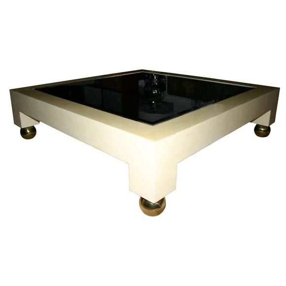 Bone Mosaic Coffee Table Att To Karl Springer At 1stdibs