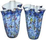 Pair Handkerchief Vases