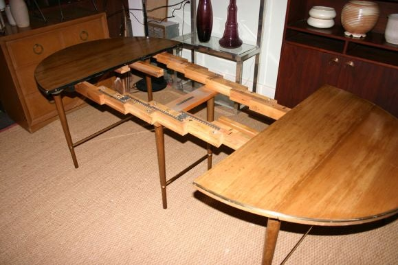mccobb extended oval dropleaf dining table with 4 leaves at 1stdibs