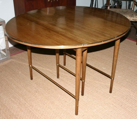 paul mccobb extended oval dropleaf dining table with 4