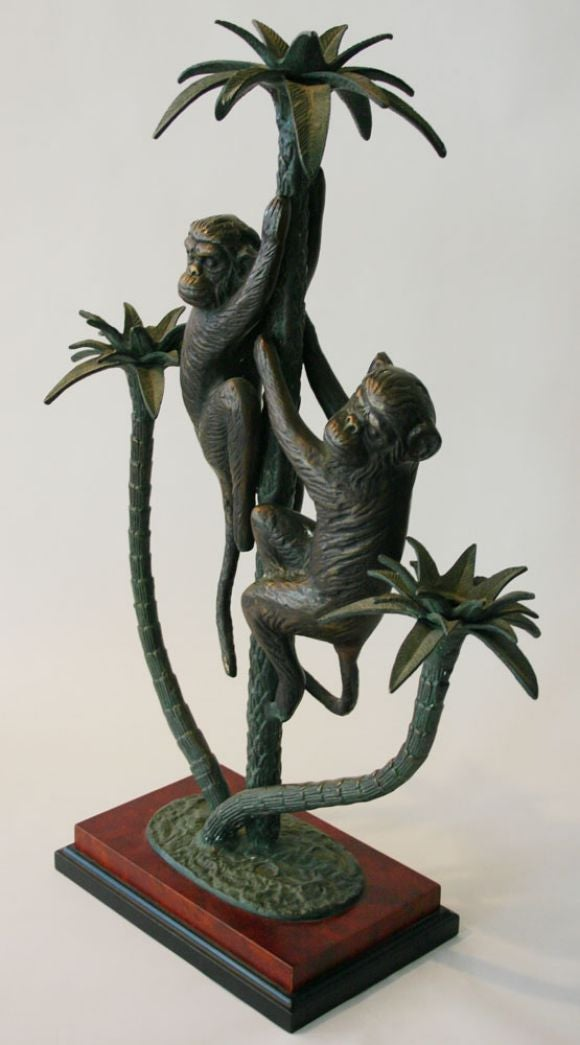 Bronze Monkey Candleabra At 1stdibs