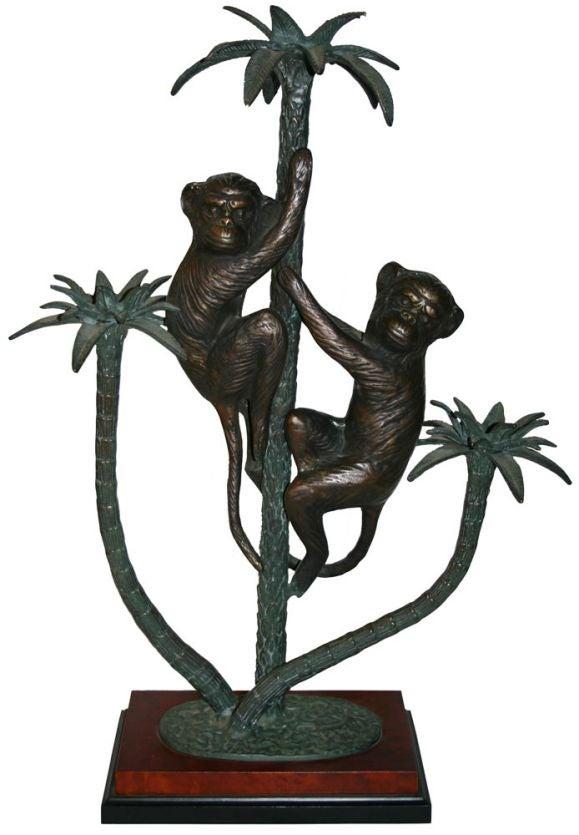 Bronze Monkey Candleabra At 1stdibs