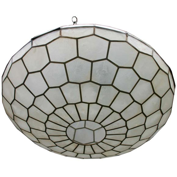 capiz shell pendant light at 1stdibs. Black Bedroom Furniture Sets. Home Design Ideas