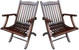Pair Steamship Folding Chairs